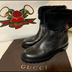 💯 Authentic Gucci Leather Boots